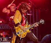 Hall Of Fame Prints - Joe Perry Aerosmith Print by Don Olea