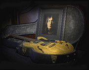 Mccartney Digital Art - John and His Guitar by Mark Furnell