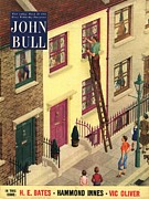 Featured Metal Prints - John Bull 1954 1950s Uk Suburbia Metal Print by The Advertising Archives