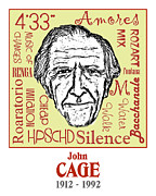 Cage Drawings - John Cage by Paul Helm