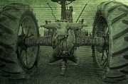 Farming Digital Art - John Deere by Dan Sproul