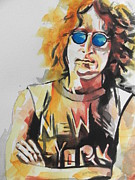 New York City. John Lennon Portrait Posters - John Lennon Poster by Chrisann Ellis