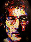 Hamburg Paintings - John Lennon by Joyce Sherwin