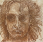 Singers Pastels - John Lennon by Laura Corebello