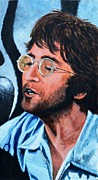 Live Music Framed Prints - John Lennon Framed Print by Shirl Theis