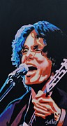 Singer Painting Framed Prints - John Mayer Framed Print by Shirl Theis