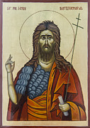 Orthodox Painting Prints - John The Baptist Print by Anton Dimitrov