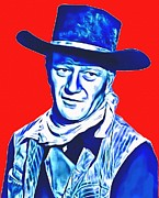 John Wayne Mixed Media - John Wayne in Red River by Art Cinema Gallery