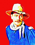 John Wayne Mixed Media - John Wayne in Rio Grande by Art Cinema Gallery