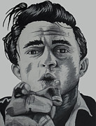 Iconic Paintings - Johnny Cash by Holly Hunt