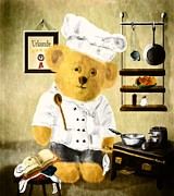 Bakery Digital Art - Johnny the Chef by Mandy Tabatt