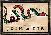 Pennsylvania Drawings - Join Or Die Cartoon 1754 by Granger