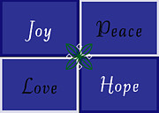 Carolyn Stagger Cokley Art - Joy Peace Love Hope by Carolyn Stagger Cokley