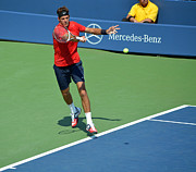 Fast Ball Photo Prints - Juan Martin del Potro Print by Maria isabel Villamonte