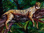 Wild Cats Paintings - Jungle Cat by Lil Taylor
