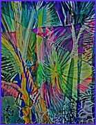 Rainbow Mixed Media - Jungle Lights by Mindy Newman