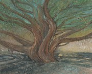 Juniper Paintings - Juniper Tree at Joshua Tree by Sandra Lytch
