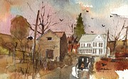 Amish Buggy Paintings - Just Passing Through by Robert Yonke