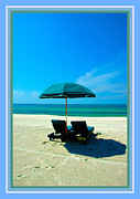Empty Chairs Prints - Just YOU and ME and The Beach Print by Susanne Van Hulst