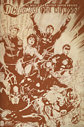 Avengers Painting Originals - Justice League Of America by FHT Designs