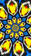 Swirling Framed Prints - Kaleidoscope of Primary Colors Framed Print by Amy Cicconi