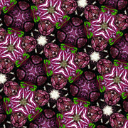 Healthy Eating Metal Prints - Kaleidoscope Raddichio Lettuce Metal Print by Amy Cicconi