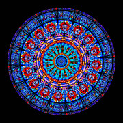Patterned Posters - Kaleidoscope Stained Glass Window Series Poster by Amy Cicconi