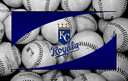 Baseball Bat Posters - Kansas City Royals Poster by Joe Hamilton
