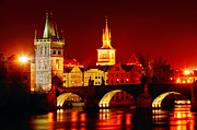 Charles Bridge Digital Art Posters - Karluv Most Poster by John Galbo