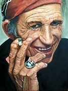 Rolling Stones Art - Keith Richards by Christian Carrette
