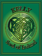 Kelly Digital Art Posters - Kelly Soul of Ireland Poster by Ireland Calling