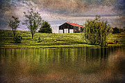 Farming Barns Posters - Kentucky CountrySide Poster by Darren Fisher