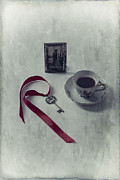 Ribbon Posters - Key To My Memories Poster by Joana Kruse