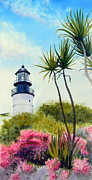 Key West Paintings - Key West Lighthouse by Todd Derr
