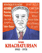 Russia Drawings - Khachaturian by Paul Helm