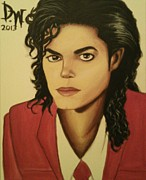Pop Stars Painting Originals - King of Pop by DeShawn Willis