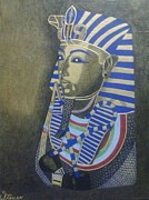 Steven Taylor Mixed Media - King Tut. by Steven Taylor