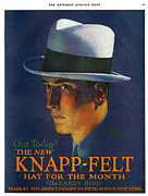 Featured Acrylic Prints - Knapp-felt 1920s Usa Mens Hats Acrylic Print by The Advertising Archives