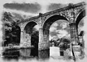 John Adams Prints - Knaresborough Viaduct Print by John Adams