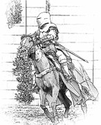 Romance Renaissance Photos - Knight on Horseback by Clarence Alford