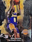 Lakers Metal Prints - Kobe Bryant Metal Print by Marsha Heiken