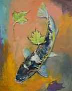 Koi Painting Posters - Koi Fish Poster by Michael Creese