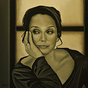 Sarah Painting Framed Prints - Kristin Scott Thomas Framed Print by Paul  Meijering