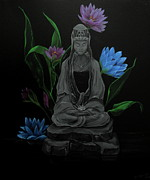 Kwan Yin Framed Prints - Kwan Yin Framed Print by D L Gerring