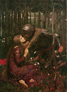 Love And Romance Posters - La Belle Dame Sans Merci Poster by John William Waterhouse