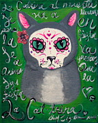 Mexican Artists Framed Prints - La Cat-trina Framed Print by Aguilar and Company