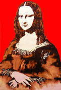 Unique Art Drawings Prints - La Gioconda Print by Juan Jose Espinoza