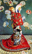 1876 Paintings - La Japonaise by Pg Reproductions