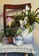 Interior Still Life Paintings - La Sedia by Danka Weitzen