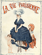 Nineteen Tens Framed Prints - La Vie Parisienne 1916 1910s France Framed Print by The Advertising Archives
